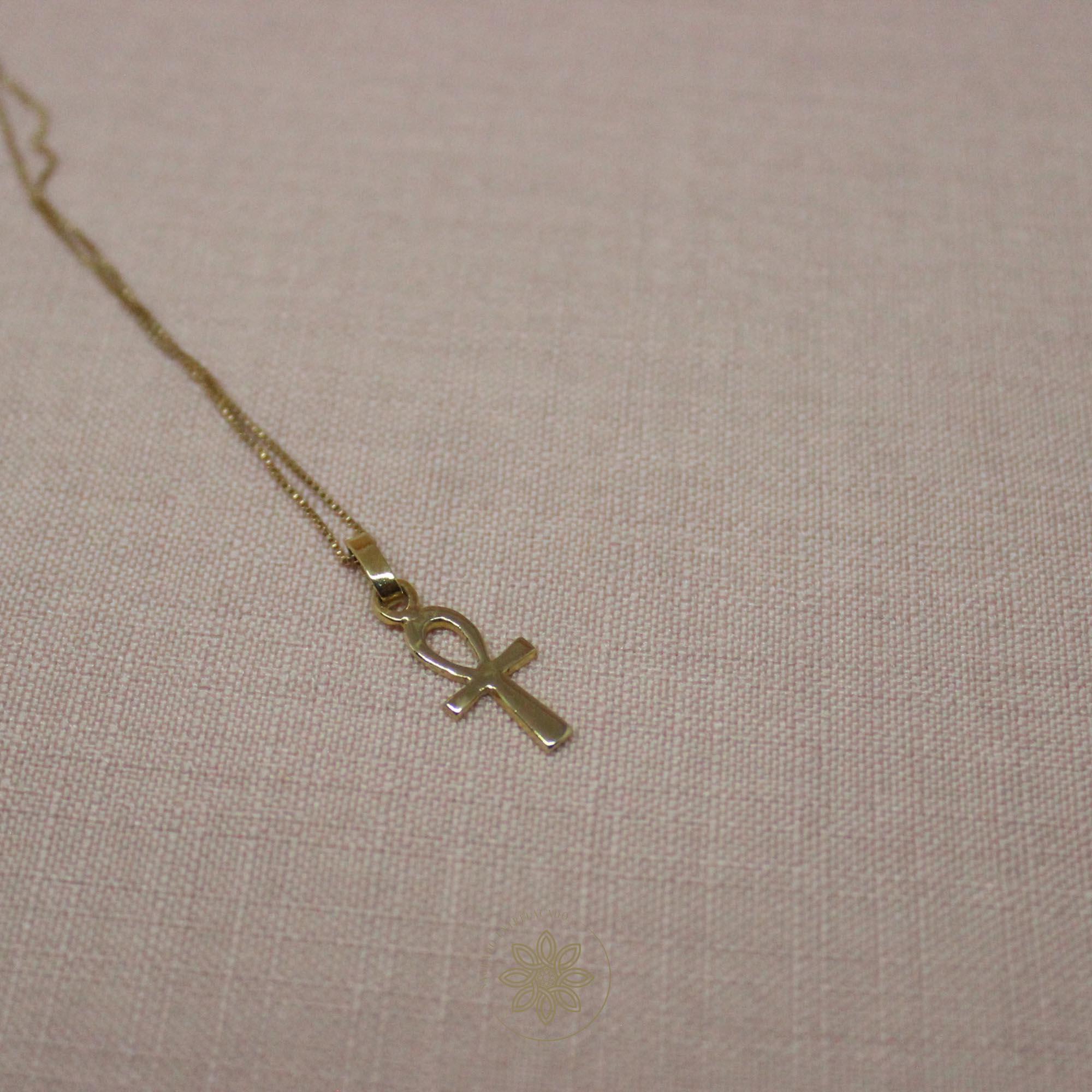 Colar Cruz Ankh  - Sagrado Entrelaçado