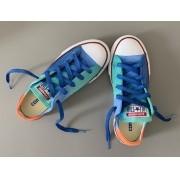 Tênis All Star infantil cano baixo Azul+laranja com cadarço Azul
