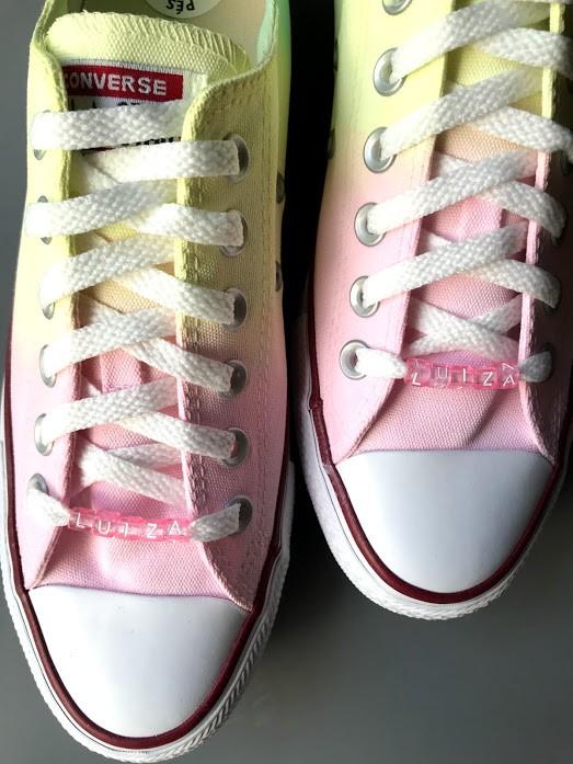 Tênis All Star Cano Baixo Degradê Candy Colors Rosa+Amarelo+Verde