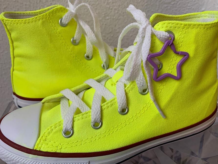 Tênis All Star Infantil Cano Alto Amarelo Neon