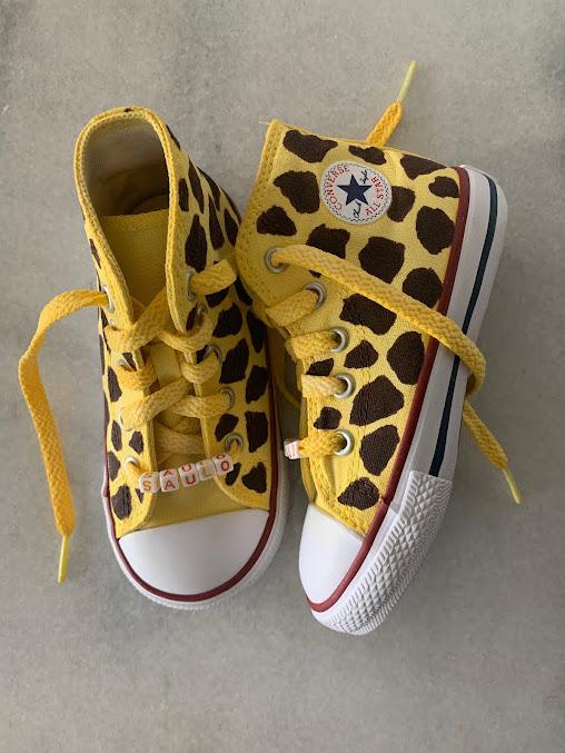 Tênis All Star Infantil Cano Alto Girafinha