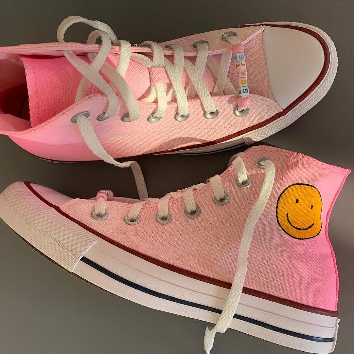 Tênis All Star Infantil Cano Alto Smile Rosa degradê