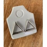 Brinco Triângulo vazado
