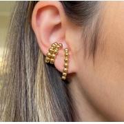 Kit 1 par de Hear Hook + 2 falso Piercing Plots