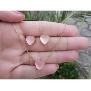 Kit Brinco + colar coração