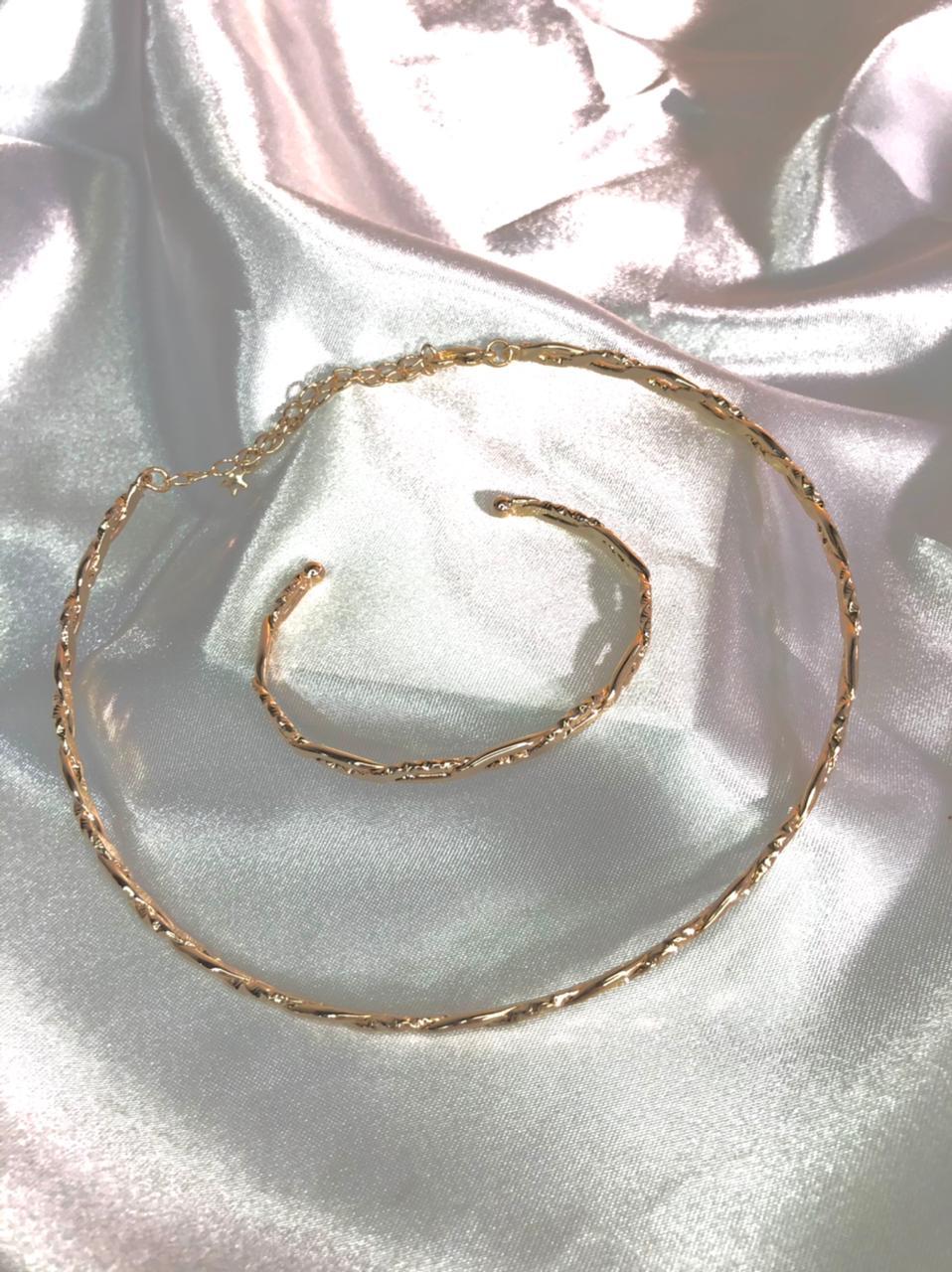 Bracelete + Chocker Andriely