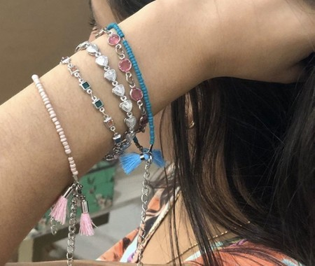 Kit com 5 pulseiras Verão