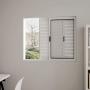 Janela Veneziana Alumínio 3 Folhas Vidro Liso sem grade 120cmx100cm Branco