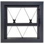 Janela Vitro Basculante Aço sem Vidro 0,40 x 0,40 x 0,14 com Grade Xadrez