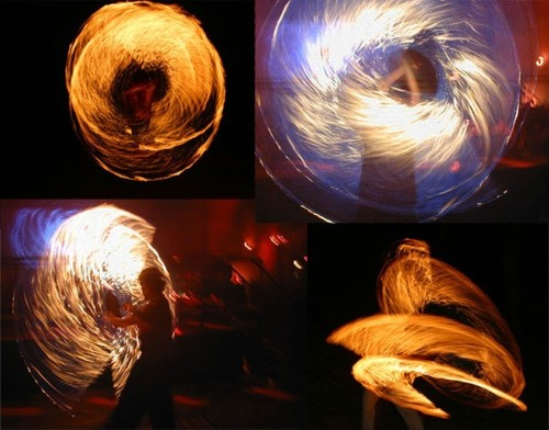 Swing fogo PRO - esfera SNAKE - BLACK KEVLAR