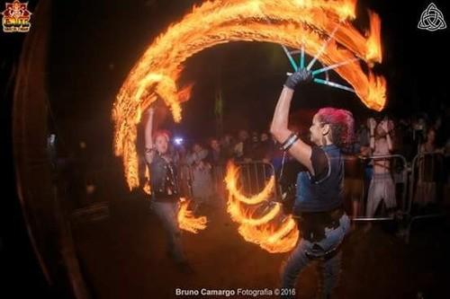 Leque De Fogo Rígido- Fire Fan - PAR
