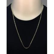 Corrente cadeado -  2 milímetros - 70 centímetros - fecho bóia - banhada  a ouro 18 k