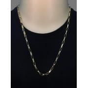 Corrente cartier -  5 milímetros - 70 Centímetros - elo longo - fecho gaveta trava dupla - Banhado a ouro 18 k