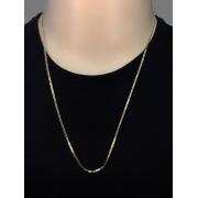 Corrente Piastrine -  2 milímetros - 70 Centímetros - fecho Lagosta - Banhado a ouro 18 k