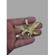 Pingente  Águia -   banhado a ouro 18k