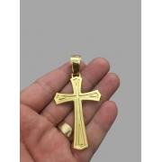 Pingente  Crucifixo -   banhado a ouro 18k