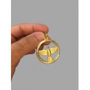 Pingente divino do espírito santo  banhado a ouro 18k