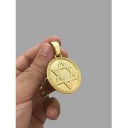 Pingente Estrela de Davi - banhado a ouro 18k