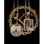Pingente Personalizado com Foto   -   banhado a ouro 18k ( Leia a descrição abaixo  sobre prazo de entrega e como enviar a foto )