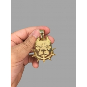 Pingente Pit bull   banhado a ouro 18k