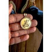Pingente São Jorge banhado a ouro 18k