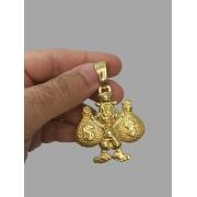 Pingente Tio Patinhas -banhado a ouro 18k