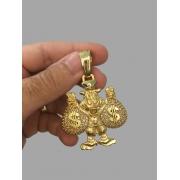 Pingente Tio Patinhas - Cravejado de zircônia -  banhado a ouro 18k