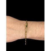 Pulseira Cartie -  4 milímetros - 22 Centímetros - fecho canhão - Banhado a ouro 18 k