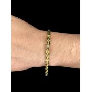 Pulseira elo baiano -  5 milímetros - 22 Centímetros - fecho canhão - Banhado a ouro 18 k