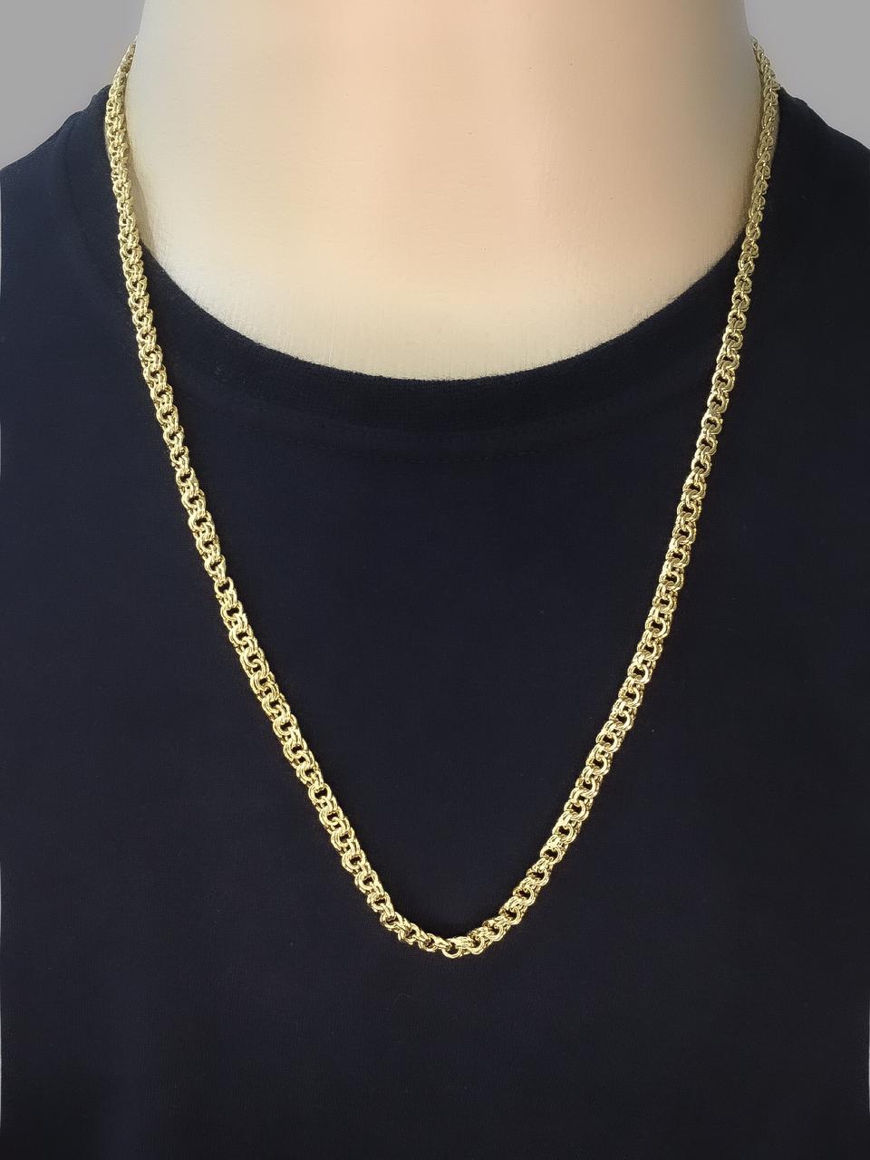 Corrente friso  -  5 milímetros - 70 Centímetros - fecho Gaveta - Banhado a ouro 18 k