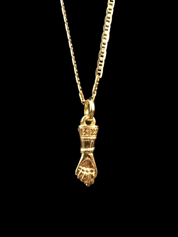 Kit Corrente Piastrine de 2 milímetros  70 centímetros  Com Pingente figa da sorte   Banhados a Ouro 18k