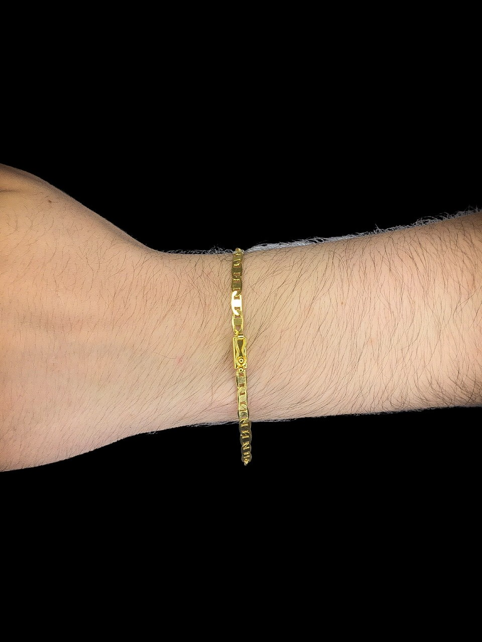 Pulseira  Piastrine -  4 milímetros - 70 Centímetros - fecho Gaveta - Banhado a ouro 18 k