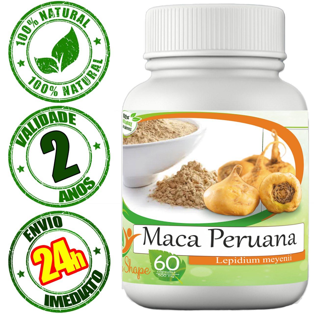12 frascos de Maca Peruana 60 cápsulas cada frasco