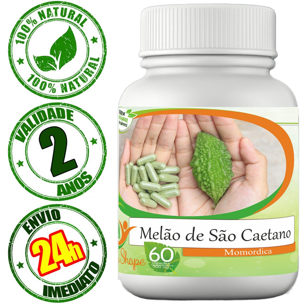 12 frascos de Melão de São Caetano 60 cápsulas cada frasco