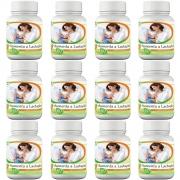 12 frascos de Composto Natural Aumenta a Lactação 60 cápsulas cada frasco