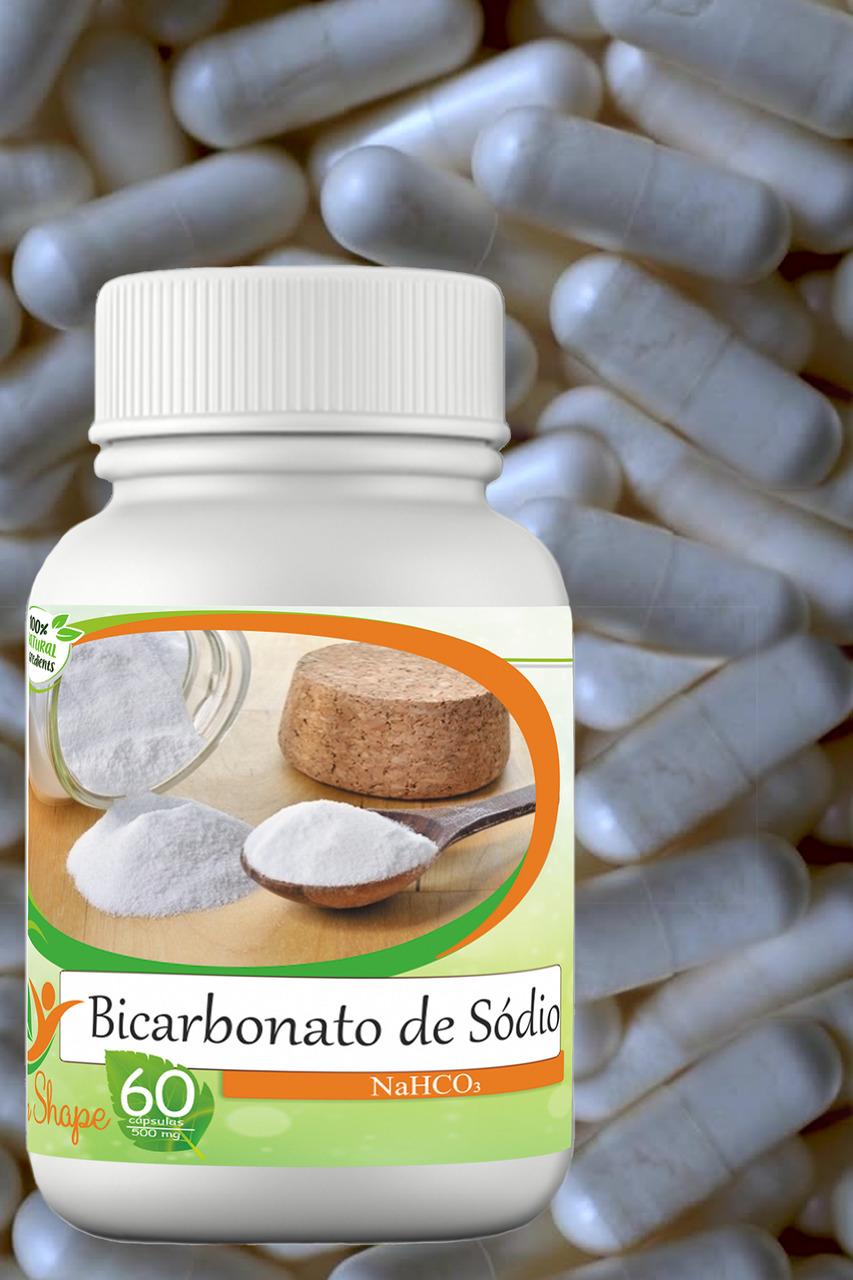 3 frascos de Bicarbonato de Sódio 60 cápsulas cada frasco