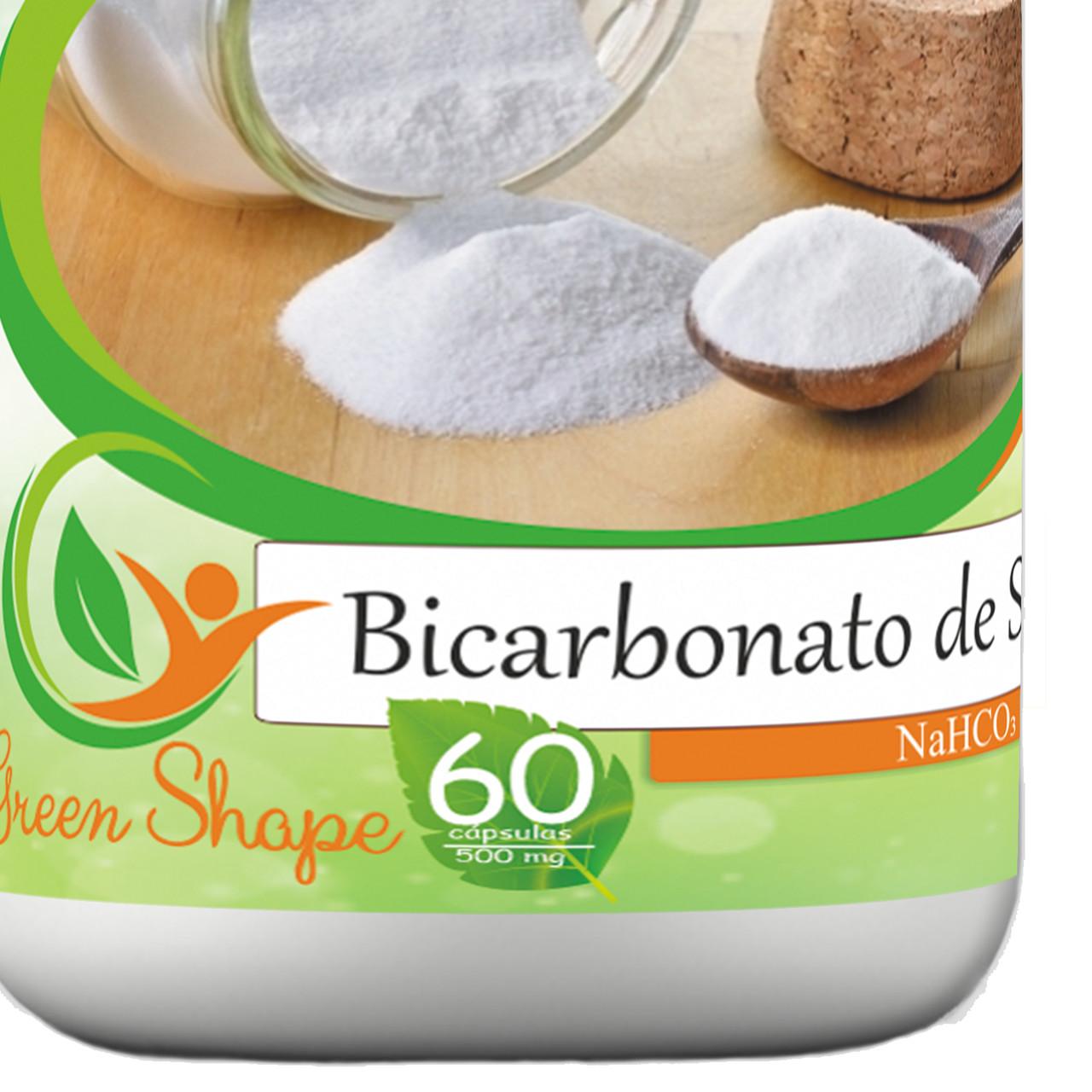 6 frascos de Bicarbonato de Sódio 60 cápsulas cada frasco