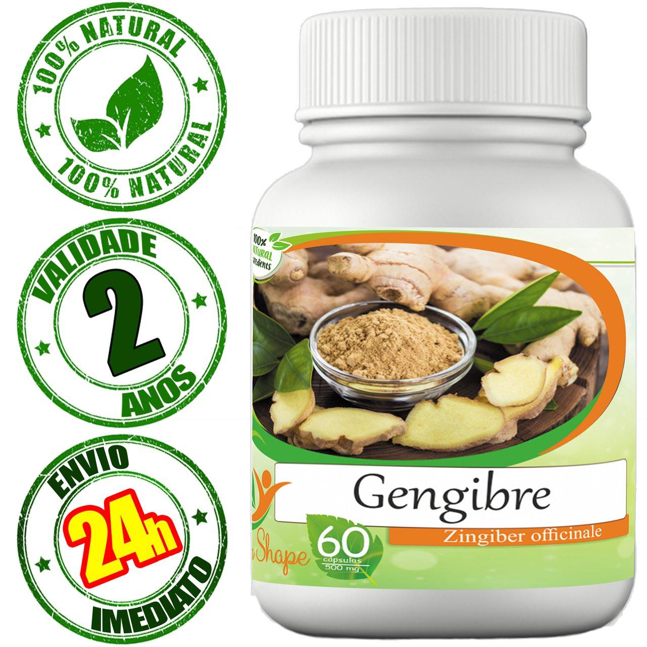 Gengibre em cápsulas - 100% Natural!