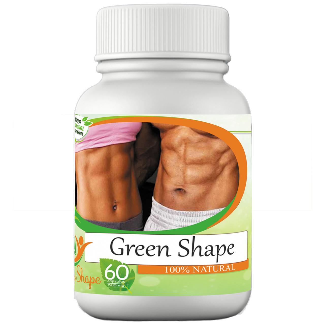 Remédio Emagrecedor 100% Natural Abdômem Alto 500 Mg 2 Green Shape