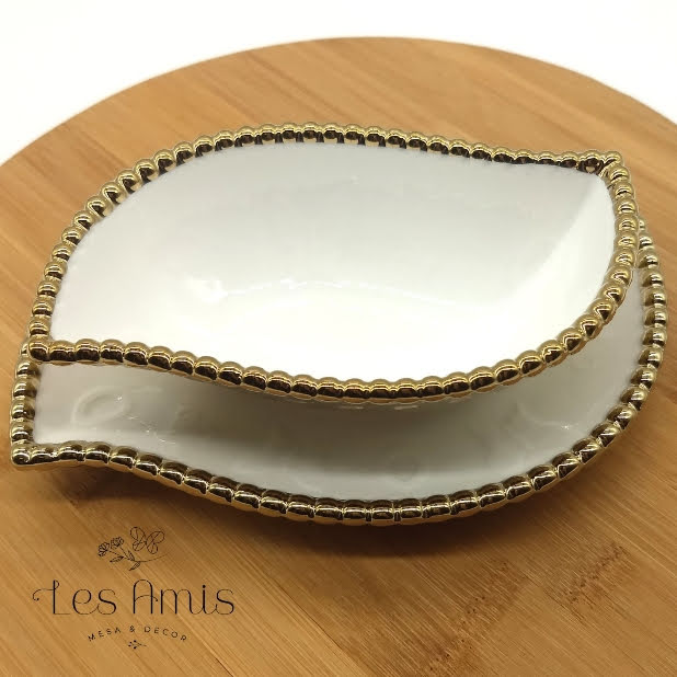 Bowl Linea Branco c/ Dourado