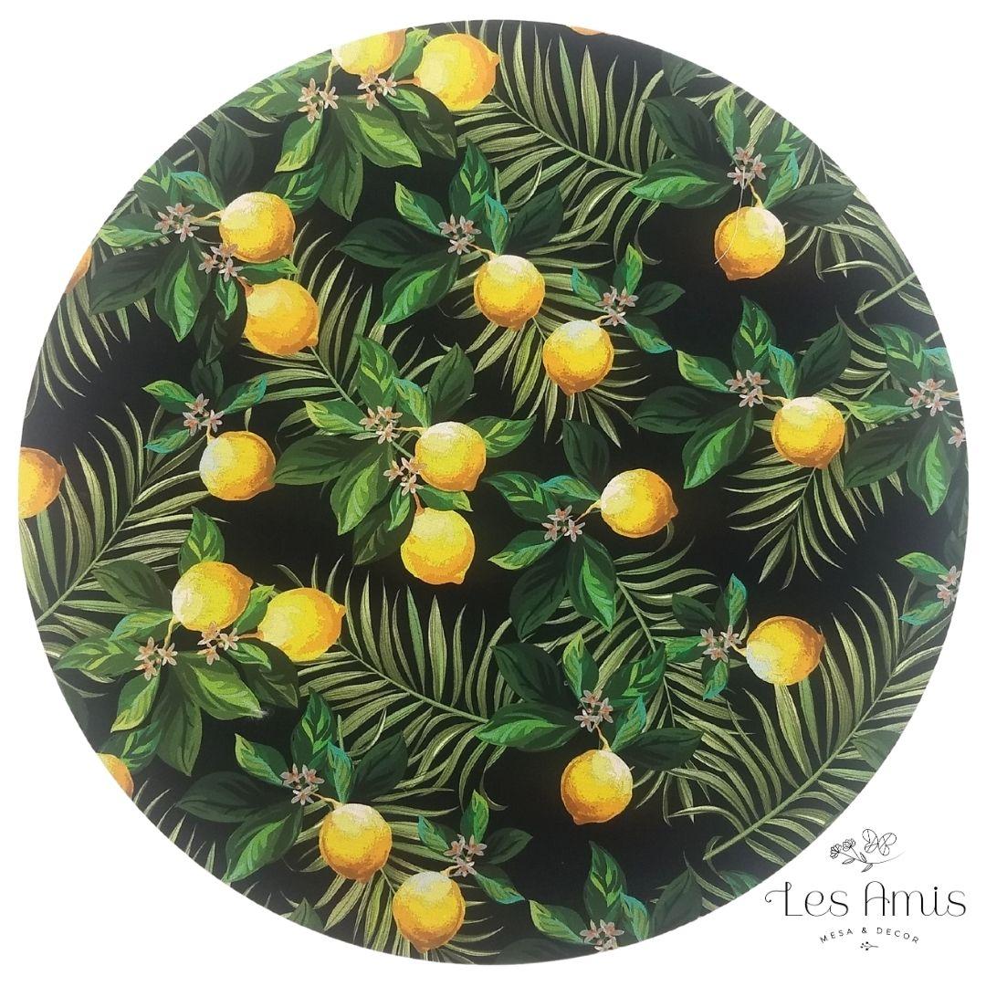 Capa Sousplat Limão Siciliano com Preto
