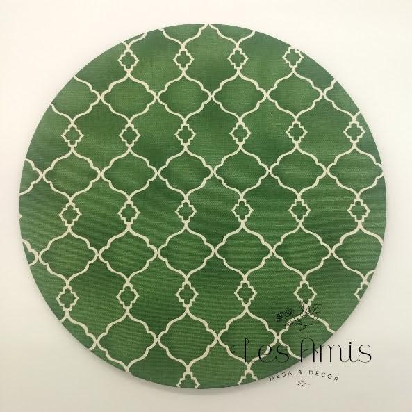 Capa Sousplat Semi impermeável Aramado Verde