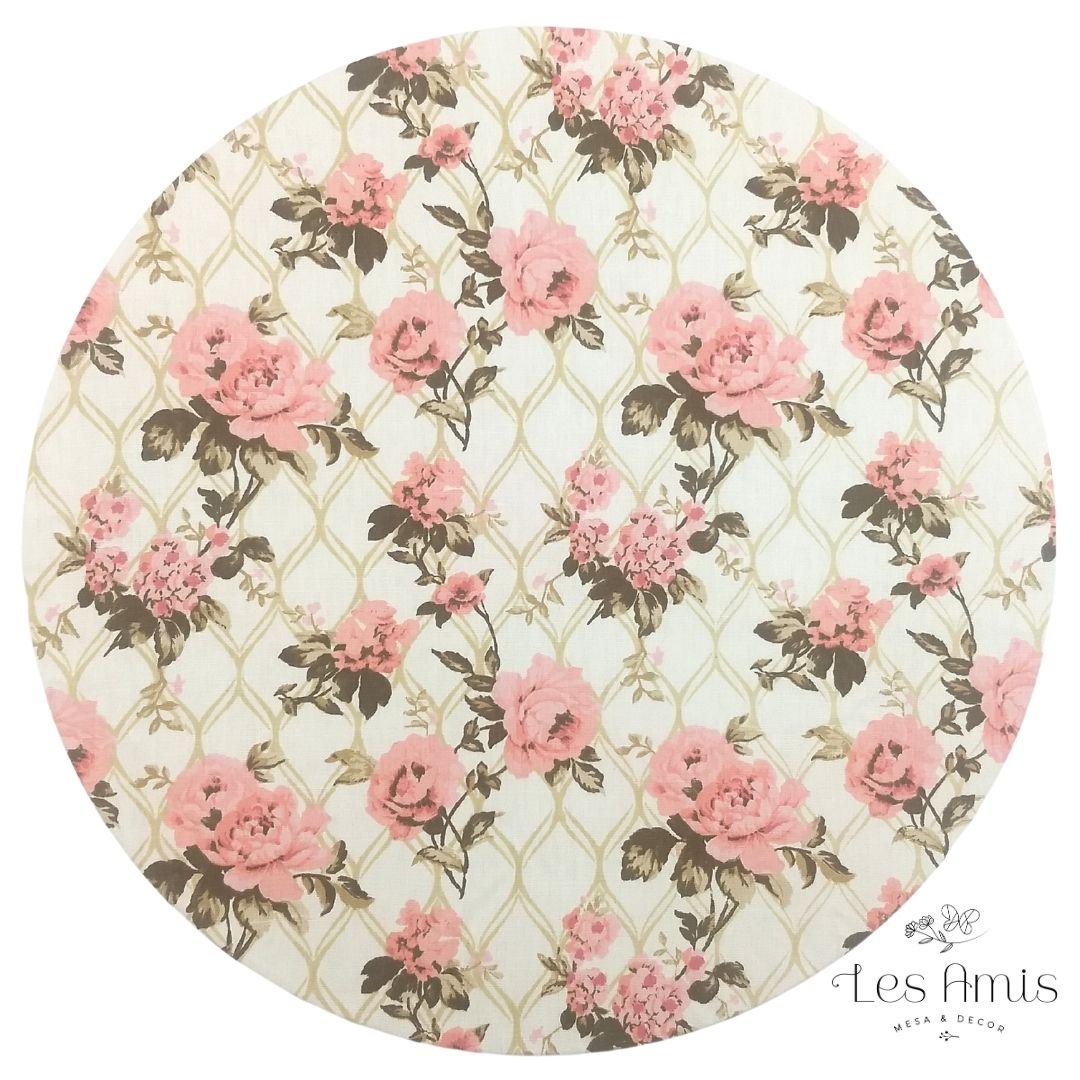 Capa Sousplat Telado Floral Rose