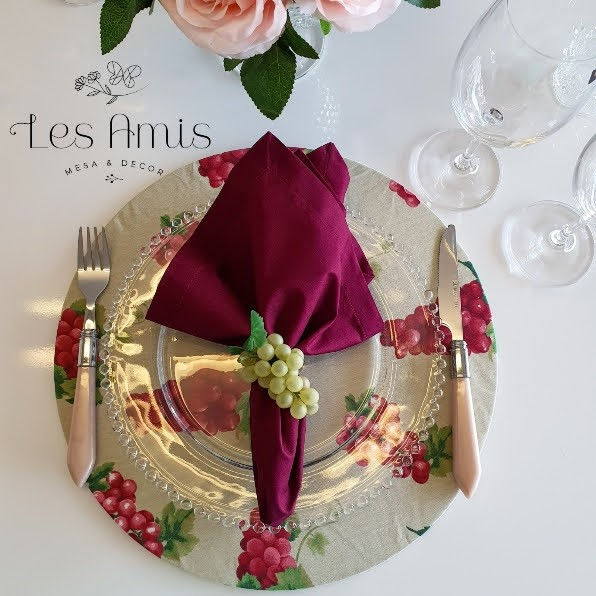 Capa Sousplat Uvas Provence