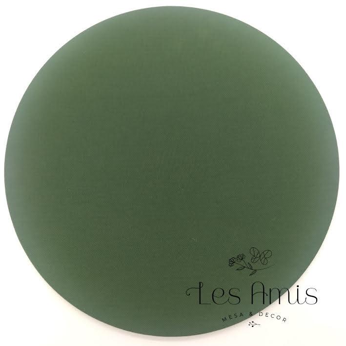 Capa Sousplat Verde Escuro Liso