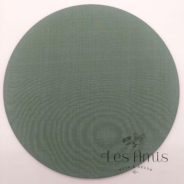 Capa Sousplat Verde Musgo