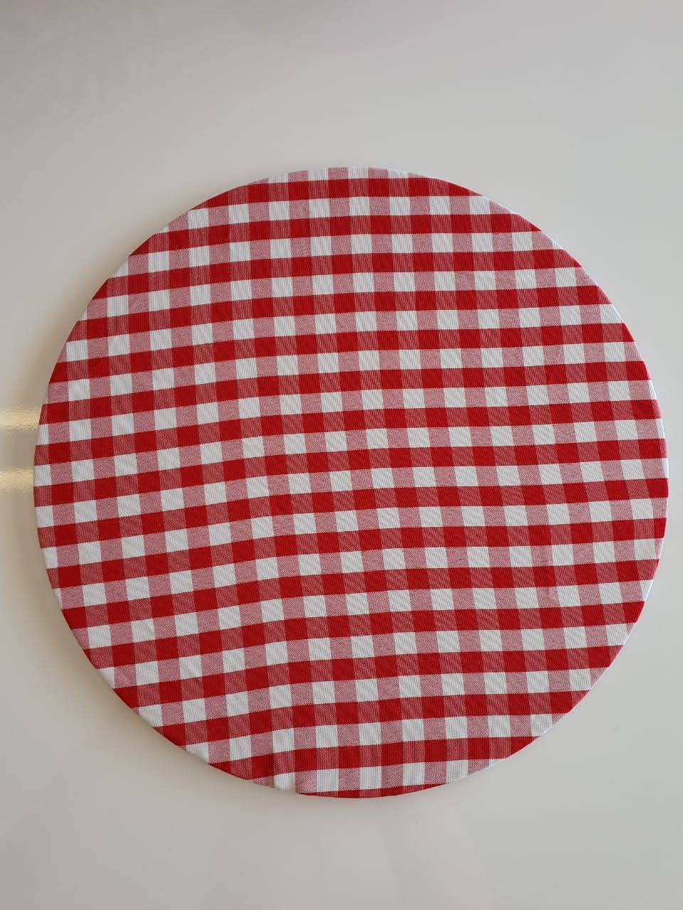 Capa Sousplat Xadrez Vermelho/Branco