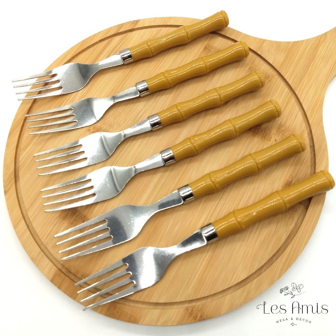 Conjunto Garfos de Mesa de Bambu Basic