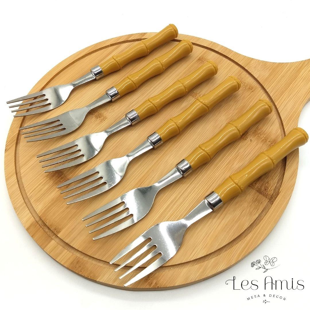 Conjunto Garfos de Sobremesa de Bambu Basic