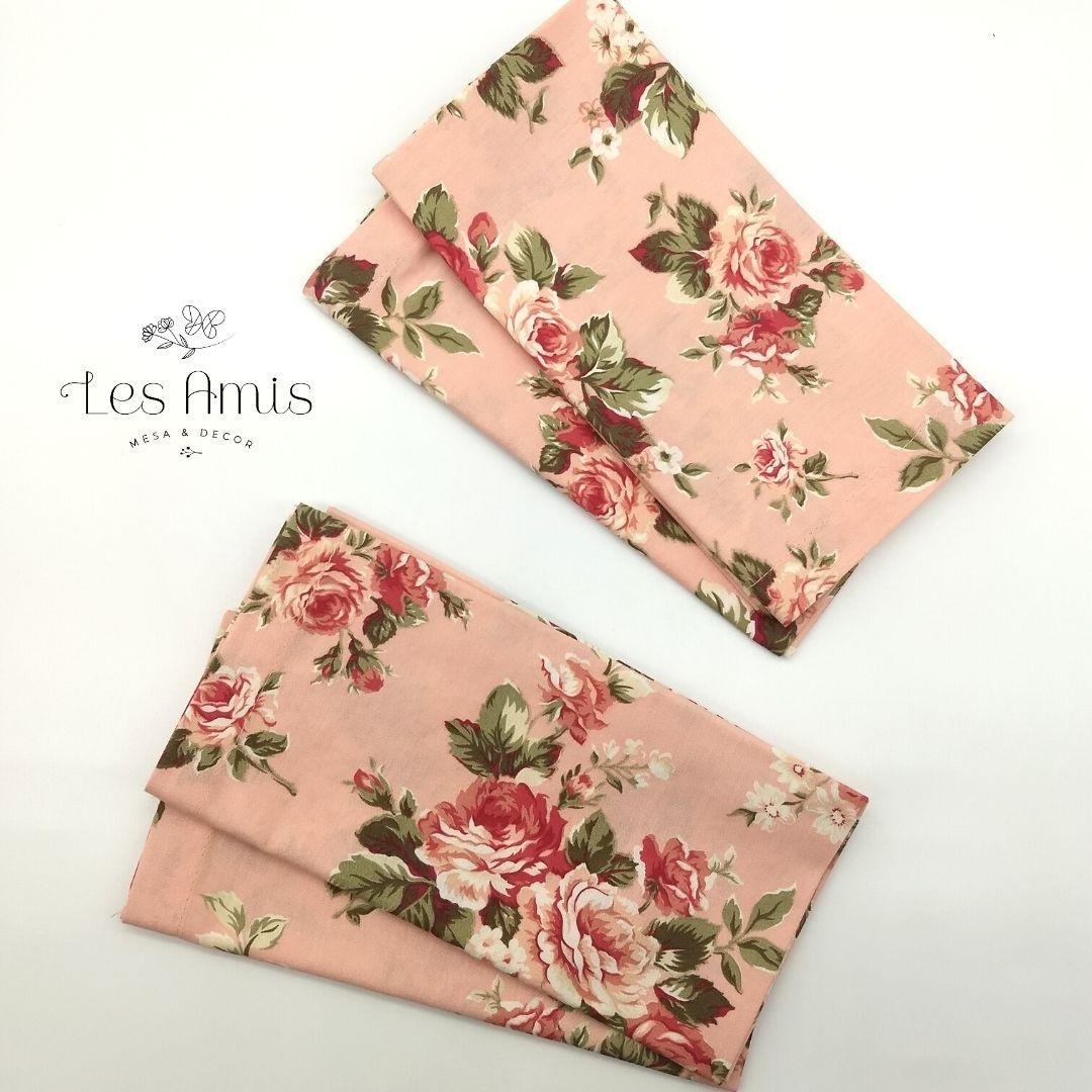 Guardanapo Floral Rosa Antigo